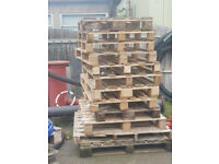 Various sized pallets