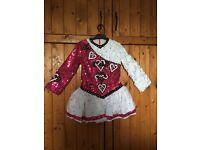 Pink and white Irish dancing dress for sale would suit age 6-8