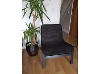 IKEA NOLMYRA black mesh, modern, very comfy used lightweight chairs / armchair