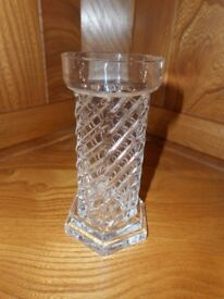 DARTINGTON Glass Archimedes Candle Holder or Vase by Frank Thrower - collect from Gosport Hampshire