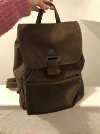 Woman's leather backpack