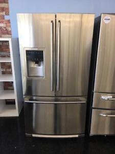 FRIDGES BLOWOUT END SUMMER SALE STAINLESS STEEL FRENCH DOORS BOTTOM FREEZER