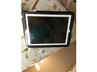 Apple I Pad white with black Belkin standup cover private one owner excellent condition