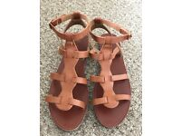 Women sandals, gladiator, tan, from New Look, size 6 / 39, hardly worn
