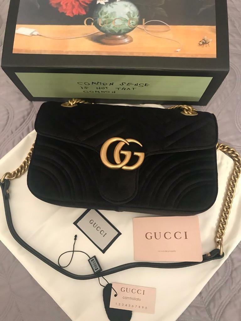5974a207f4e7 Gucci Marmont Black velvet bag | in Potters Bar, Hertfordshire | Gumtree