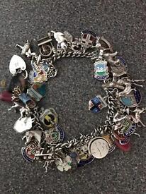 Antique charm bracelet