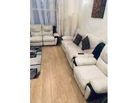 Full leather recliner sofa 3+2+1