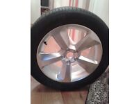 1 new alloy wheel and tyre for audi q3