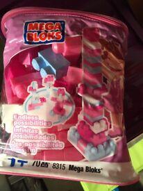 Pink Mega Bloks 70 piece set