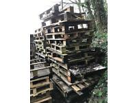 LAST STACKS OF FREE PALLETS