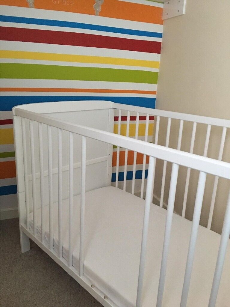 huge discount 4f6c8 61017 Classic White Finish Cot Bed by B4Beds (cot can convert to Junior bed) | in  Market Harborough, Leicestershire | Gumtree