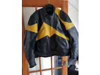 Richa Leather Motorcycle Jacket. Size EU50. Shoulder and Elbow armour.