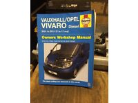 Vauxhall Vivaro Haynes workshop manual