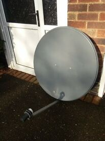 SATELLITE DISHES, 100 cm., 90 cm. and 80 cm. complete with wall bracket and LNB, tested and working