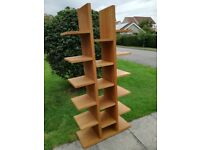 Tall open bookcase in wood veneer. Ideal for living room/office area.