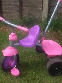 Toddler girls purple/pink tricycle
