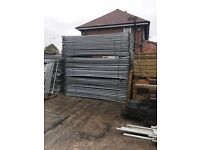 Banded packs of heras fencing / site security