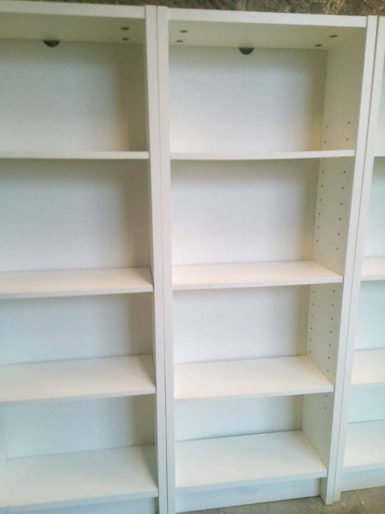 Sold 3 X Slim Narrow White Ikea Bookcases In Paisley Renfrewshire Gumtree