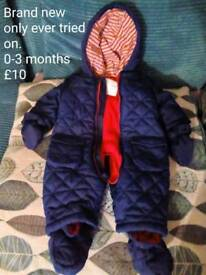 Mini club brand new snowsuit 0-3 months