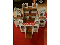 Small world wooden castle