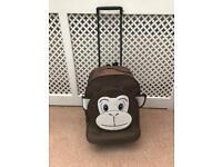 Monkey suitcase on wheels