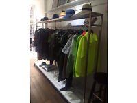 Bespoke Heavy Duty Clothing Rails suitable for shop/studio