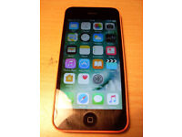 Apple iphone 5c in Orange/Pink, 16Gb, locked to EE network.