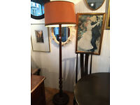 Wooden Standard Lamp , original retro wooden lamp with shade,( 6 ft ) feel free to view