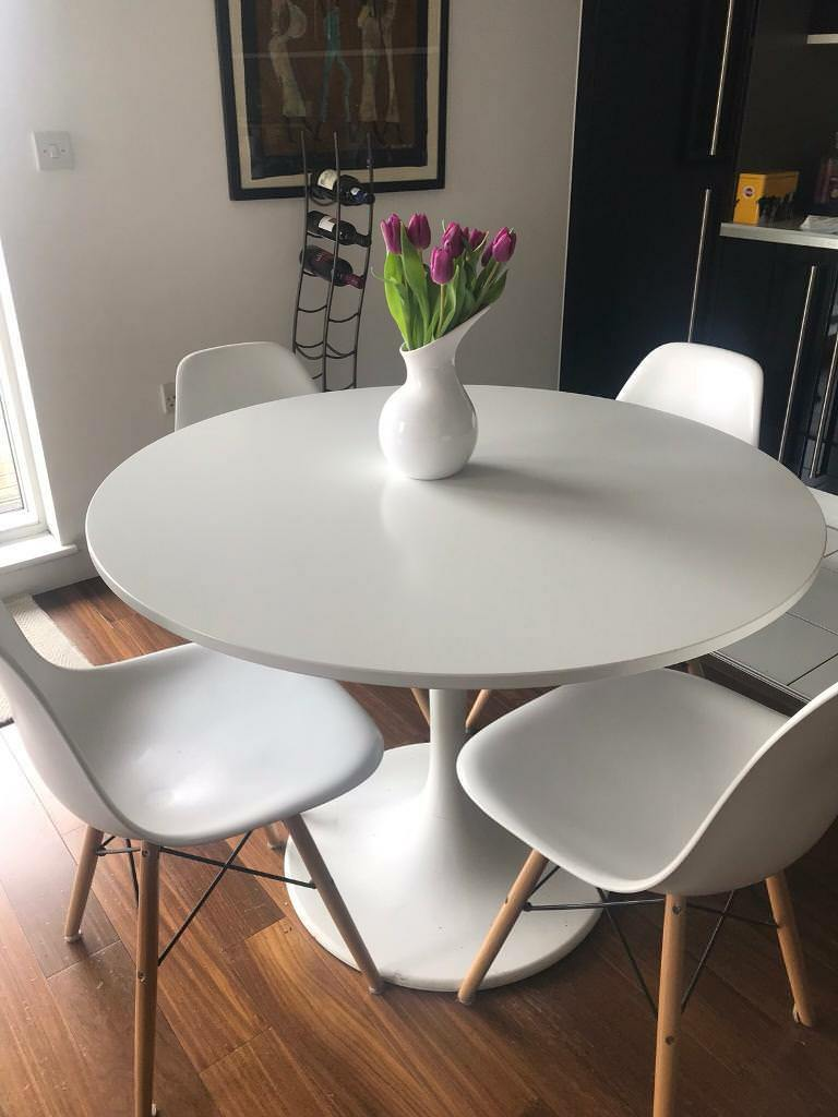 Ikea Docksta White Dining Table