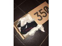 New released Yeezy V2 Black/Red Adult size U.K. Size 6.5 FR 40