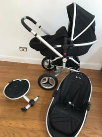 Silver Cross Surf 2 pram with buggy board