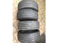 225 40 18 michelin ps3 part worn x4 treads 7m 7m 7m 7m 2254018