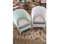 2 x (lloyd loom) wicker chairs