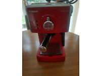 Beautiful Red Saeco Poemia manuel expresso Machine- Designed in Italy!
