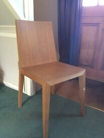 Stylish wooden dining chairs set