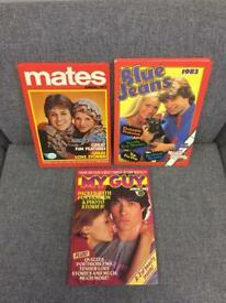 Mates Annual 1977, Blue Jeans Annual 1983 and My Guy Annual 1983 in good condition SDHC