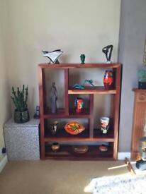 Acacia wood display units