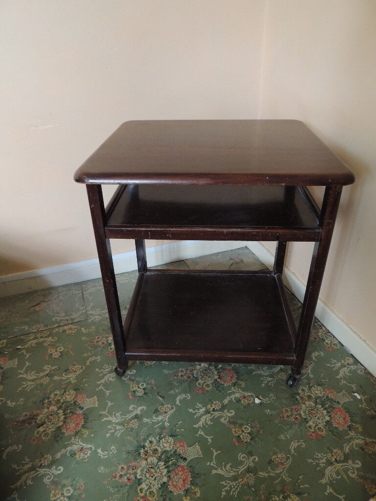 Solid Wood Small Table On Wheels In Cambridge Cambridgeshire