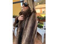 Raccoon fur coat jacket no fox mink sable
