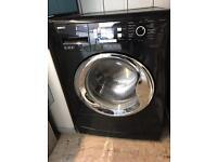 Beko WMB91242LB 9KG Washing Machine in Black And Chrome Door Digital