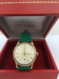 Vintage 1947 9 ct Gold Omega Watch and Box
