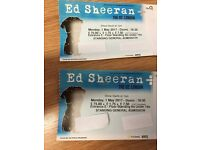 2x Standing Ed Sheeran tickets for London's o2 on 1st May