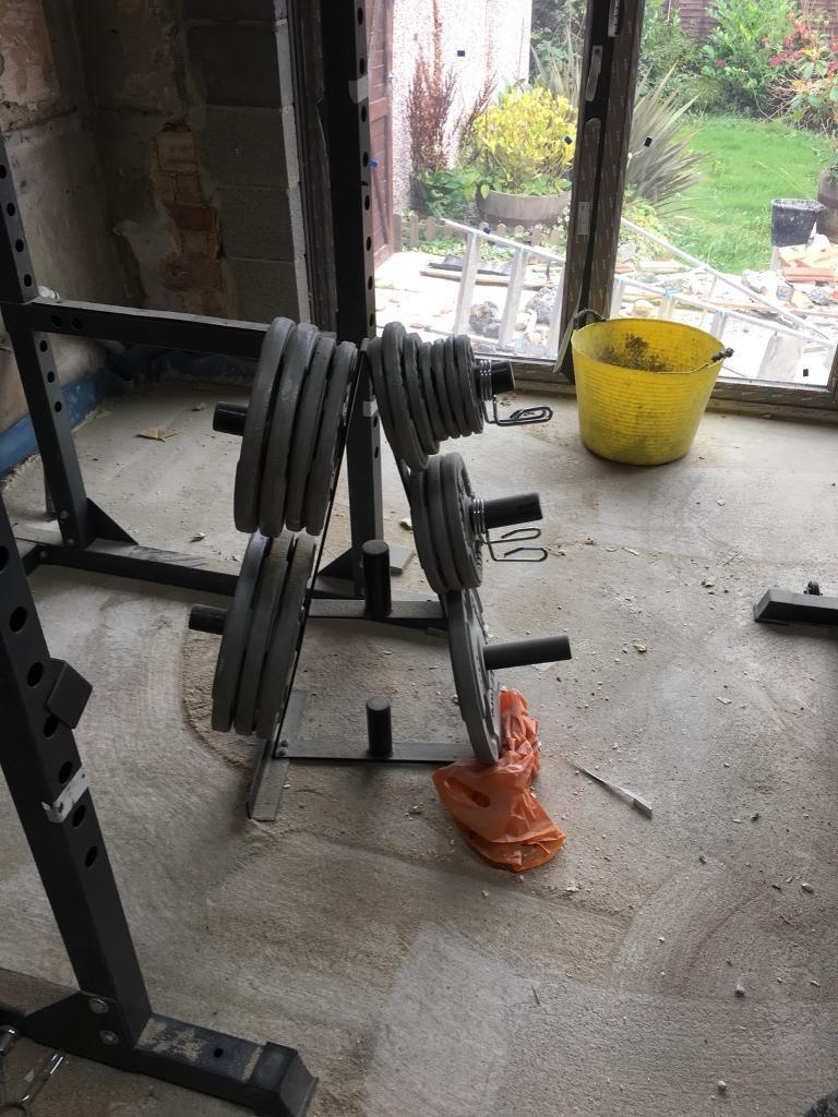 Bodymax power cage and Olympic weights gym