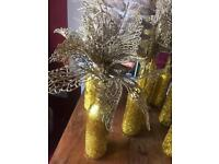 Gold Glitter Bottles for Wedding Table Centrepiece (Gatsby/Hollywood)