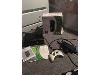 Xbox 360 black slim 250gb controller box Manuel