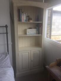 Cream Painted Shabby Chic Wooden Bookcase