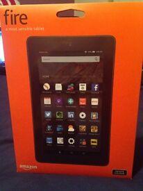 """Fire Tablet, 7"""" Display, Wi-Fi, 8 GB (Black)"""