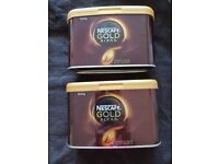 NESCAFE GOLD. 4x500g CATERING TINS. WELL IN DATE