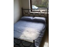 Black Classic Iron Double Bed