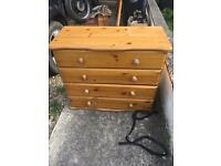 Pine set of drawers